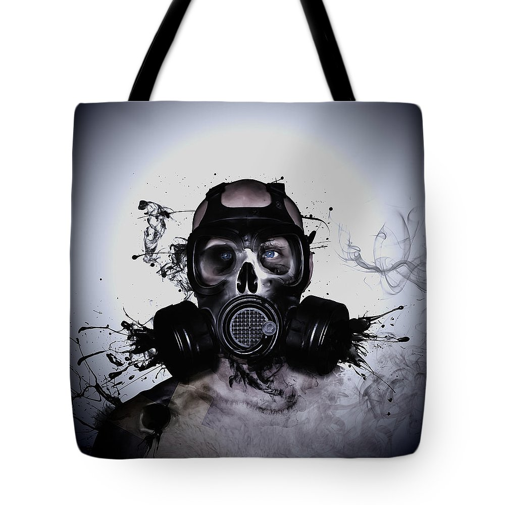Zombie Tote Bag featuring the photograph Zombie Warrior by Nicklas Gustafsson