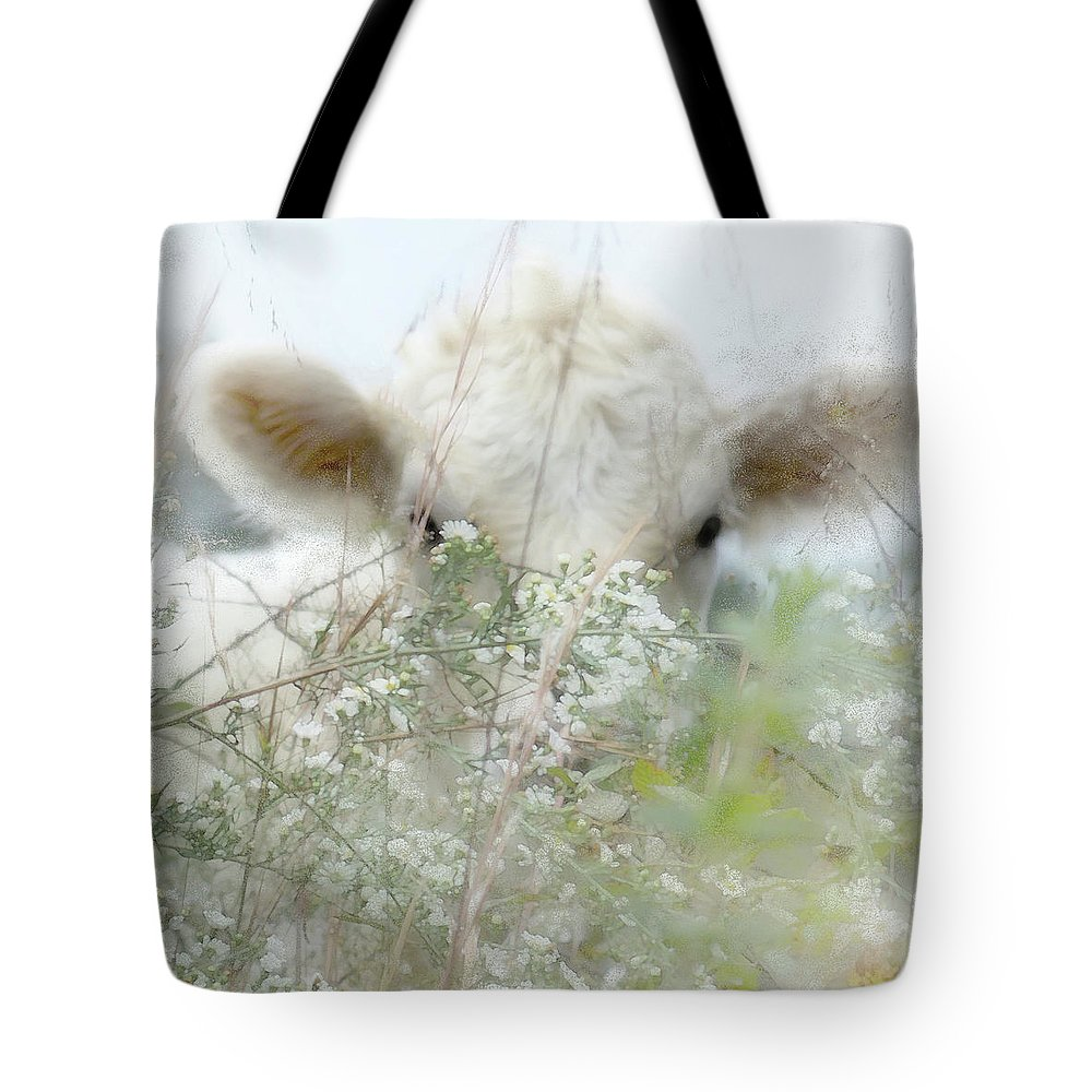 I See You Tote Bag featuring the digital art I See You - Sparkle Squares by Anita Faye