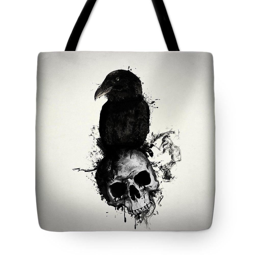 Raven And Skull Tote Bag for Sale by Nicklas Gustafsson 7bd49baf1c859