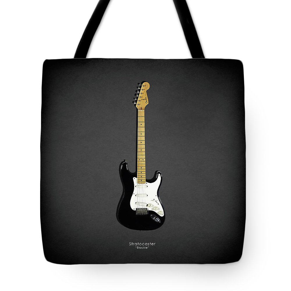 Eric Clapton Tote Bag featuring the photograph Fender Stratocaster Blackie 77 by Mark Rogan