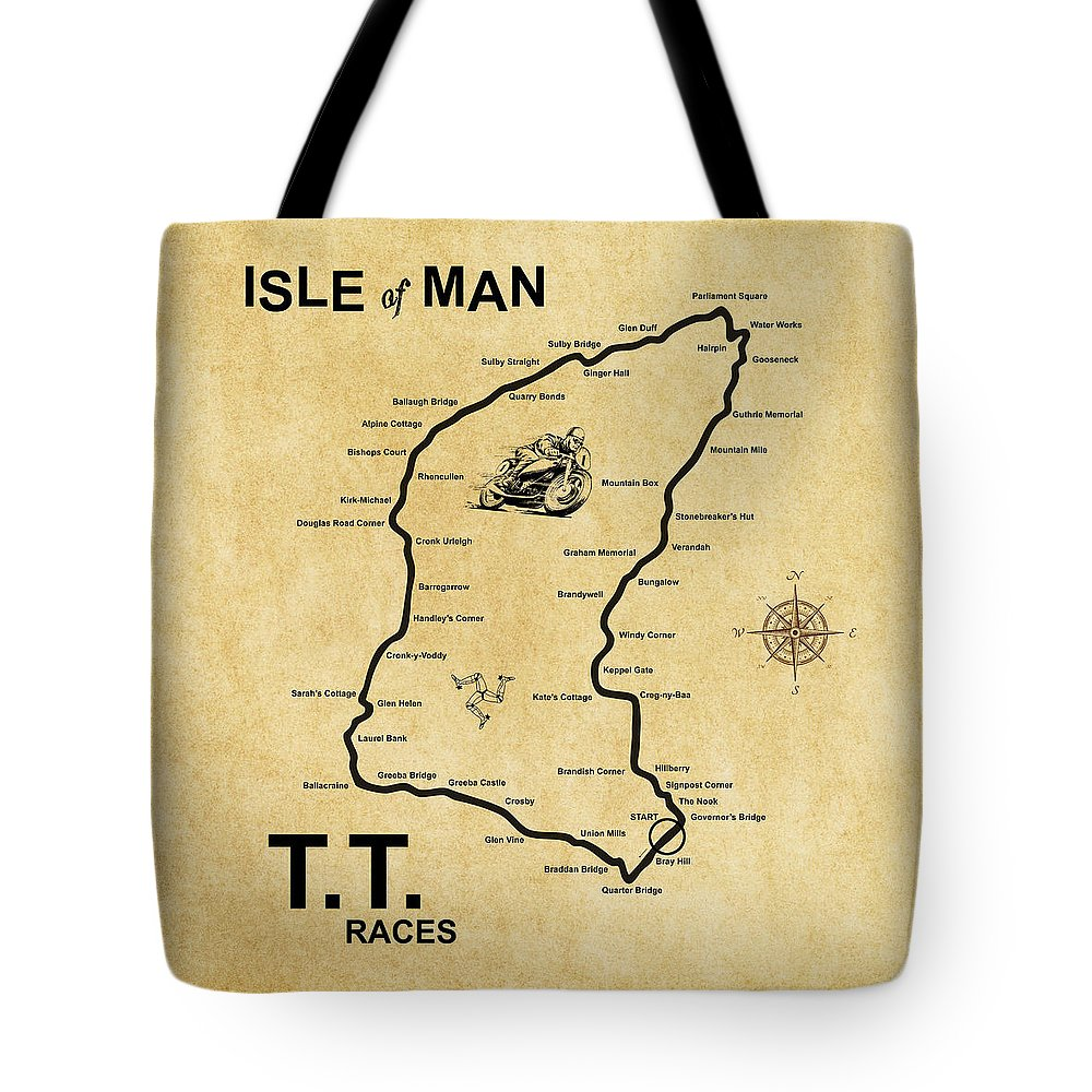 isle of man tt tote bag for sale by mark rogan. Black Bedroom Furniture Sets. Home Design Ideas