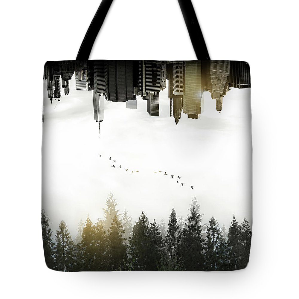 Double Photographs Tote Bags