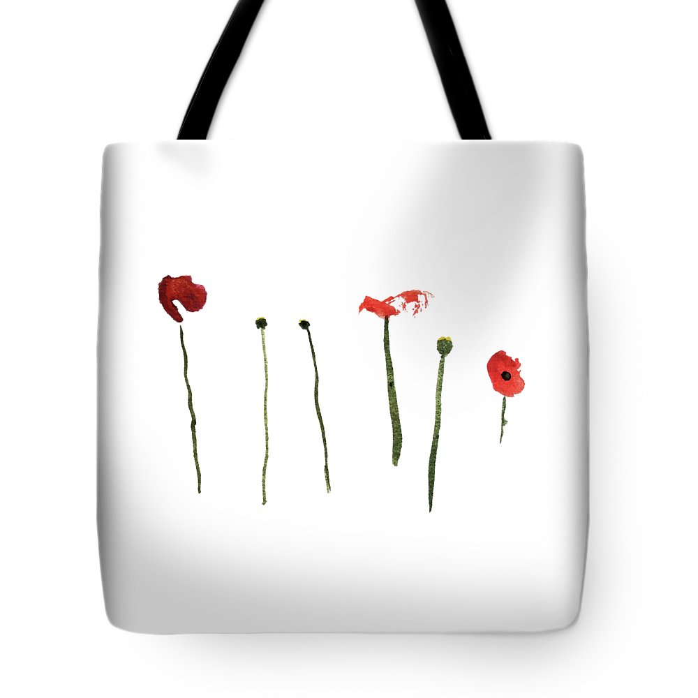 Poppy Tote Bag featuring the painting Red Poppies by Stephanie Peters