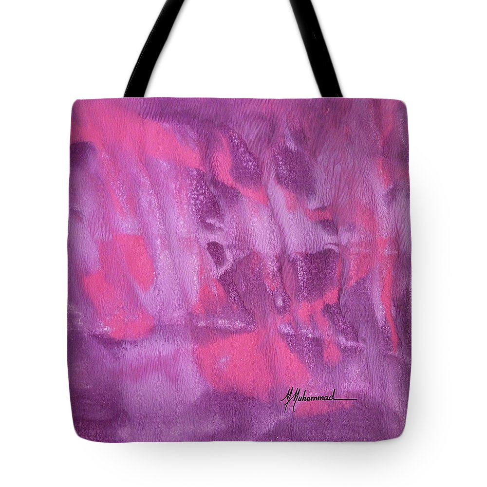 Lavender Tote Bag featuring the painting Aura by Marcella Muhammad