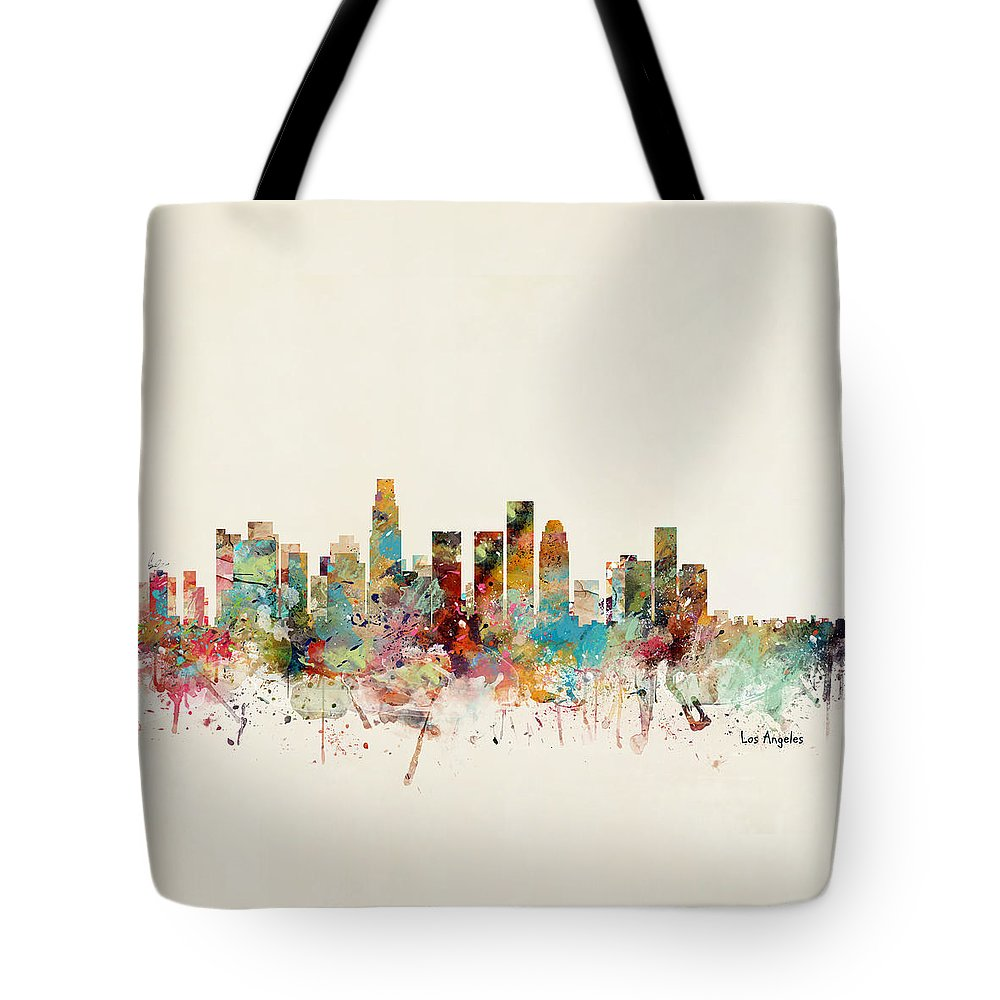 Los Angeles Californiai Tote Bag featuring the painting Los Angeles California by Bri Buckley