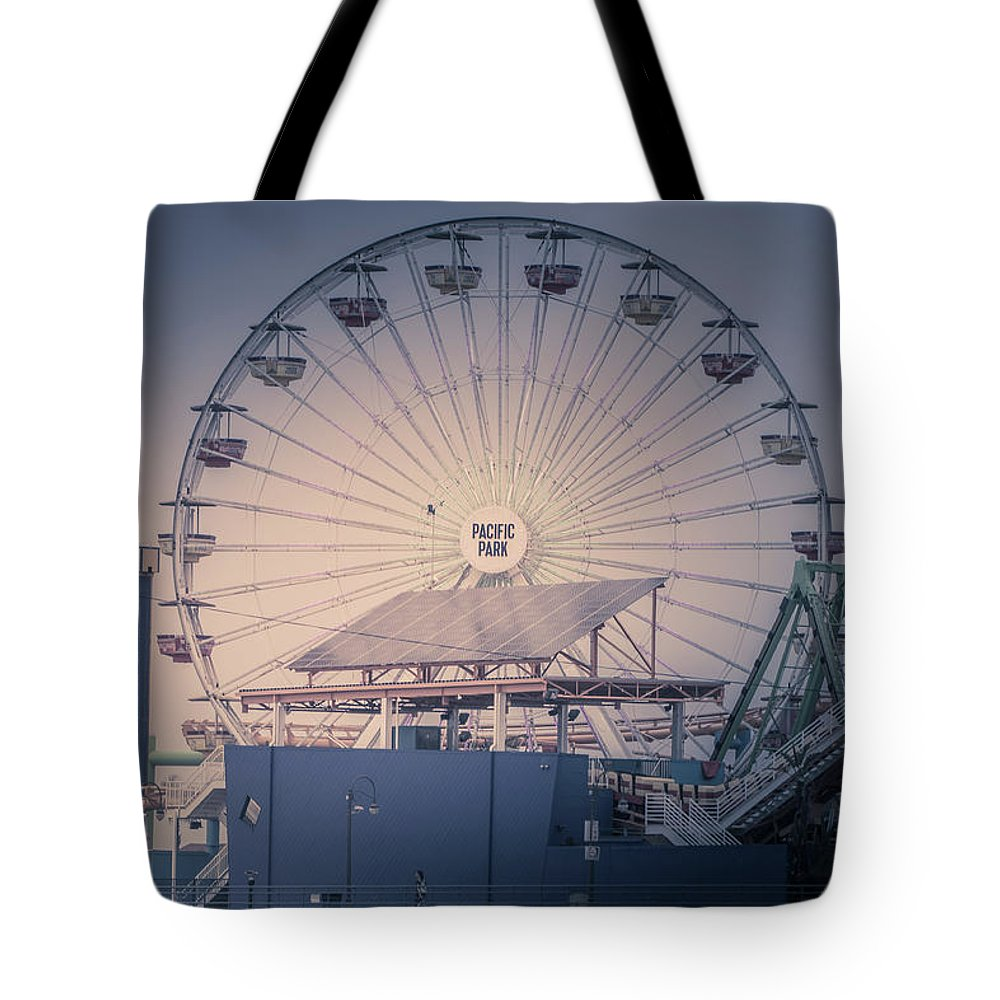 Ferris Tote Bag featuring the photograph Pacific Park by Martin Alonso