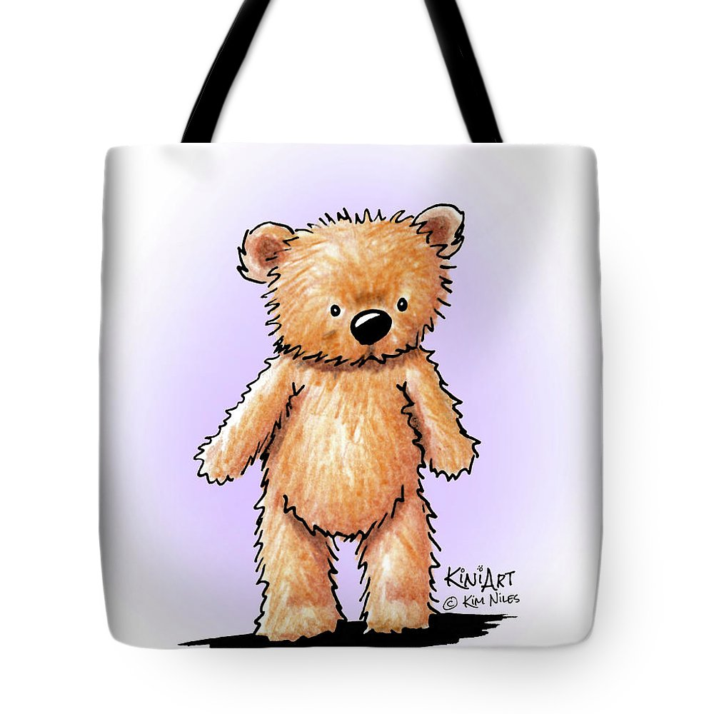 Bear Tote Bag featuring the drawing Teddy Bear by Kim Niles