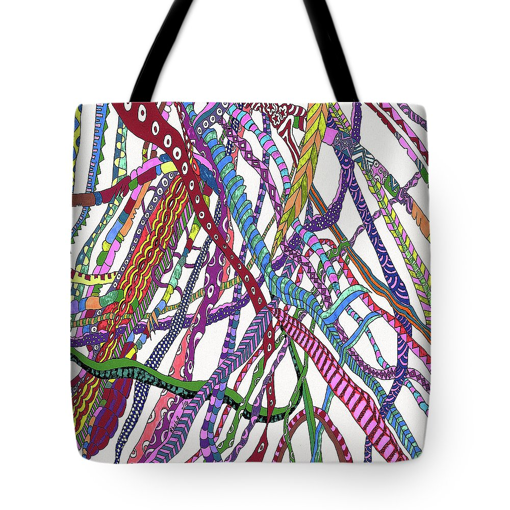 Dna Tote Bag featuring the painting Dancing Dna by Rheba McMichael