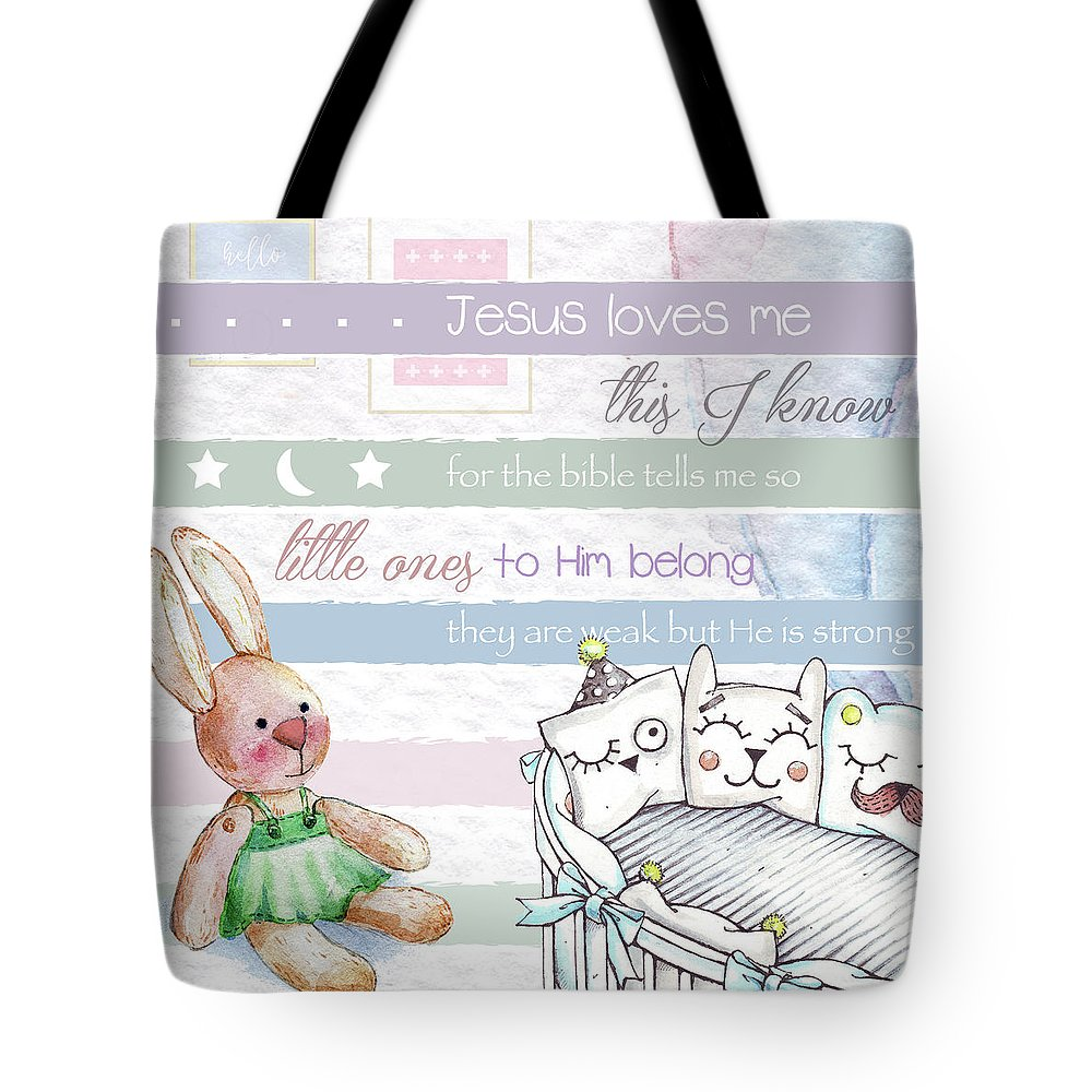 Tote Bag featuring the digital art Basic Rgb by Claire Tingen