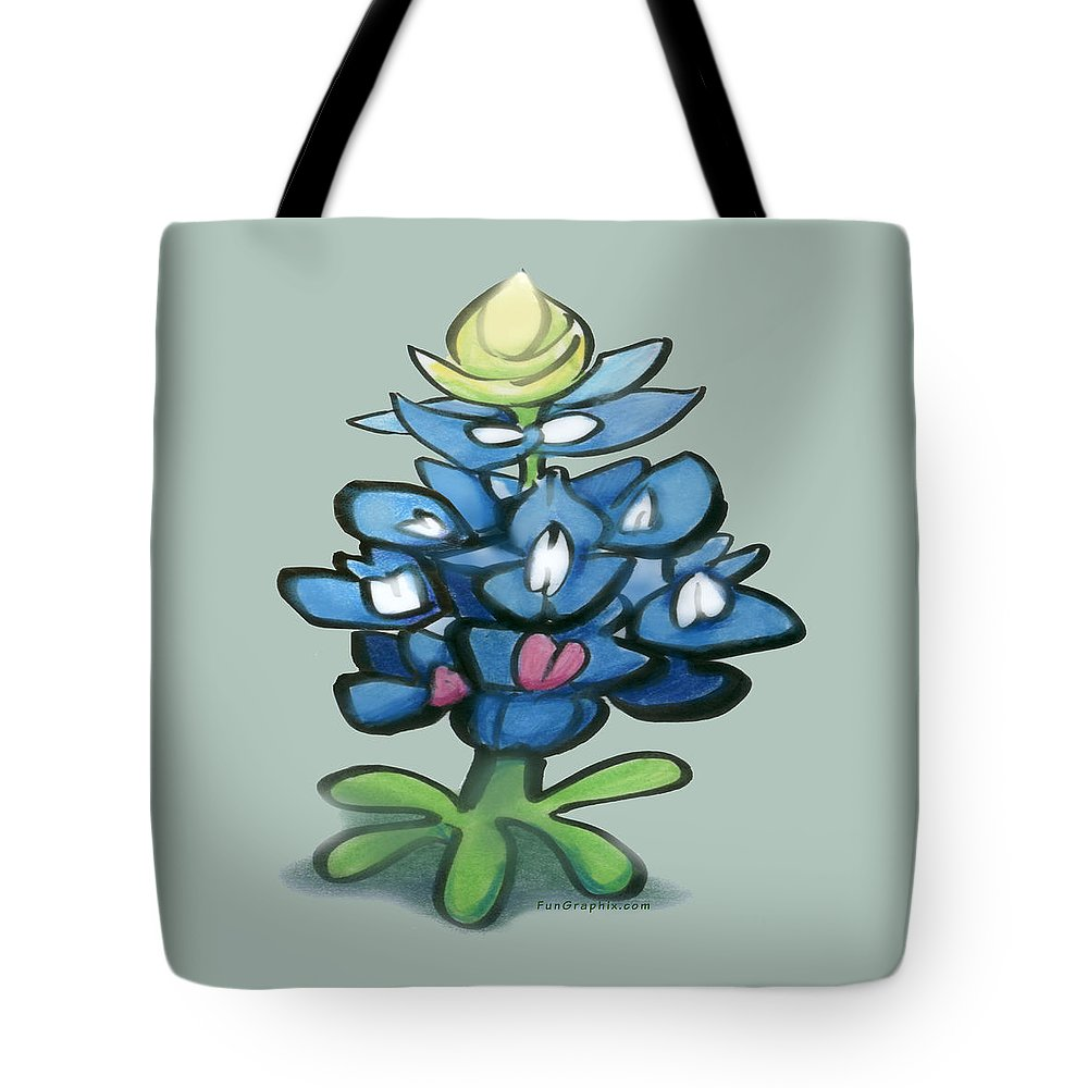 Bluebonnet Tote Bag featuring the digital art Bluebonnet by Kevin Middleton
