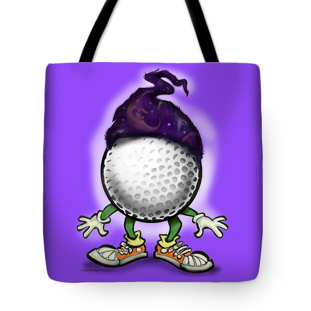 Golf Tote Bag featuring the digital art Golf Wizard by Kevin Middleton