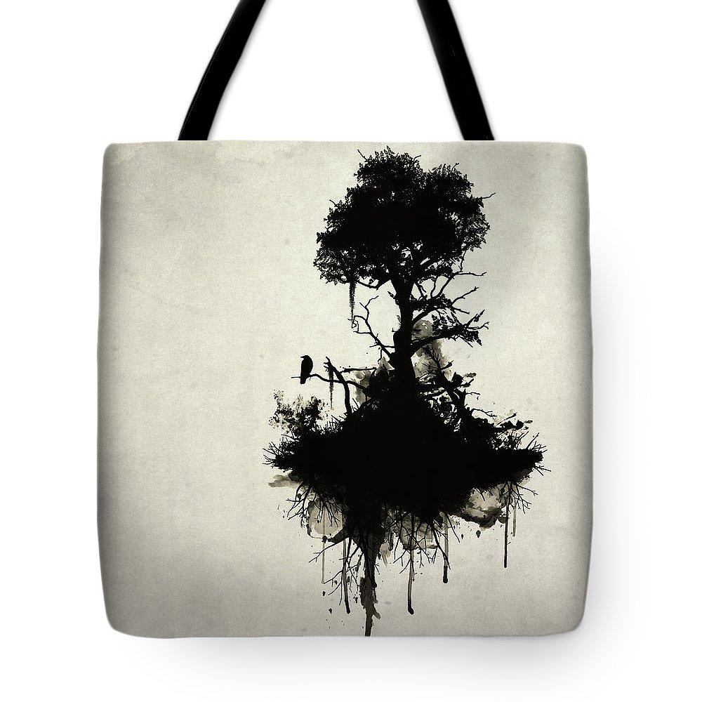 Nature Tote Bag featuring the painting Last Tree Standing by Nicklas Gustafsson