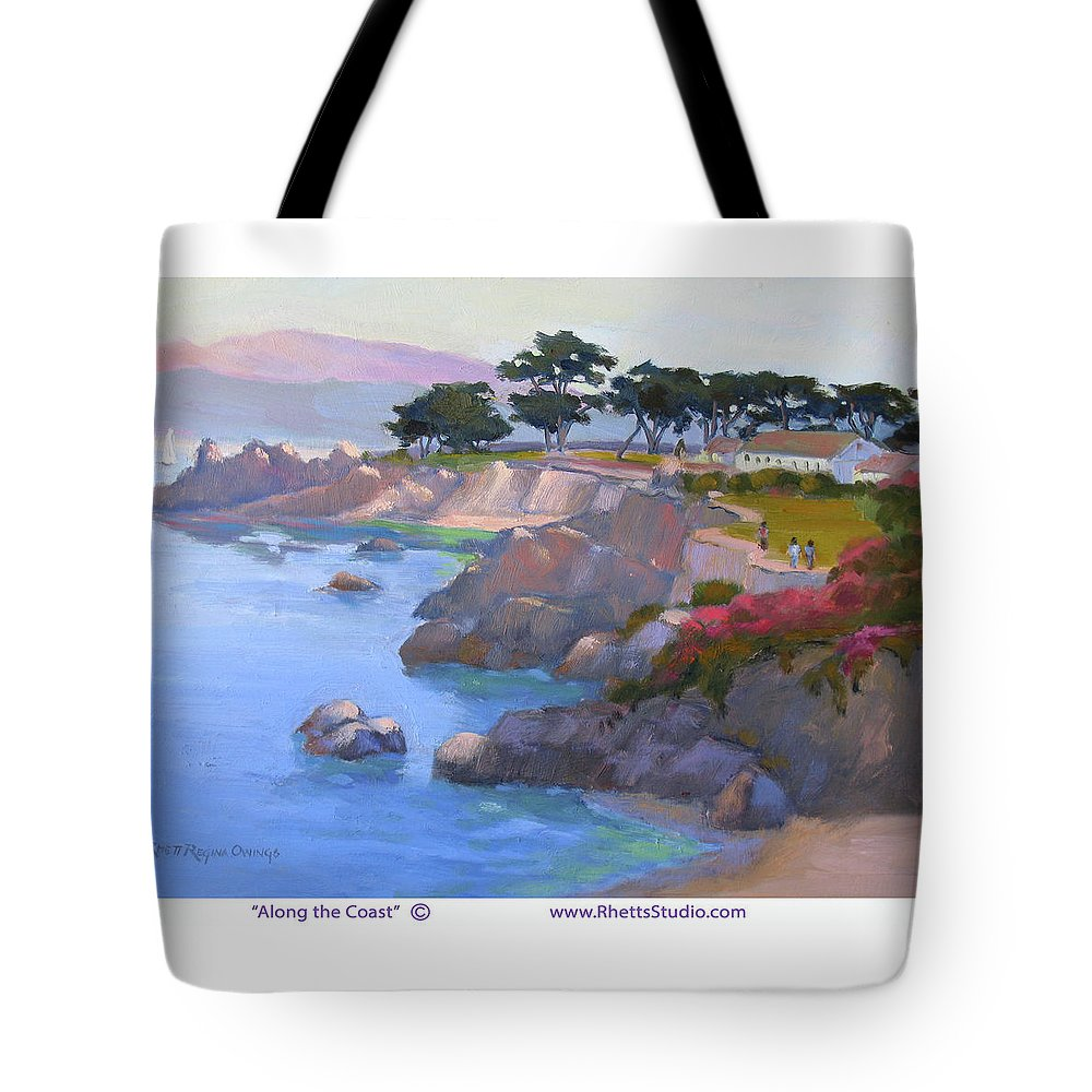 California Tote Bag featuring the painting Along The Coast by Rhett Regina Owings