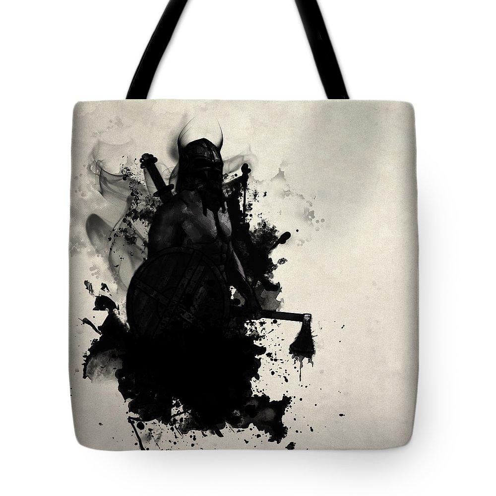 Axe Digital Art Tote Bags
