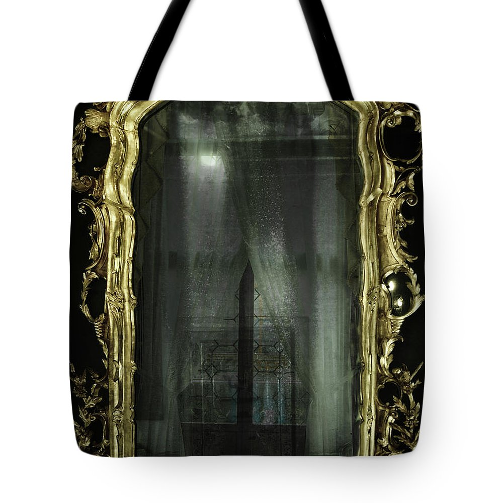 Mirror Tote Bag featuring the photograph As Through A Glass Darkly by Philip Openshaw
