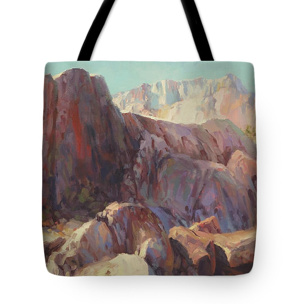 Wilderness Tote Bag featuring the painting Ascension by Steve Henderson