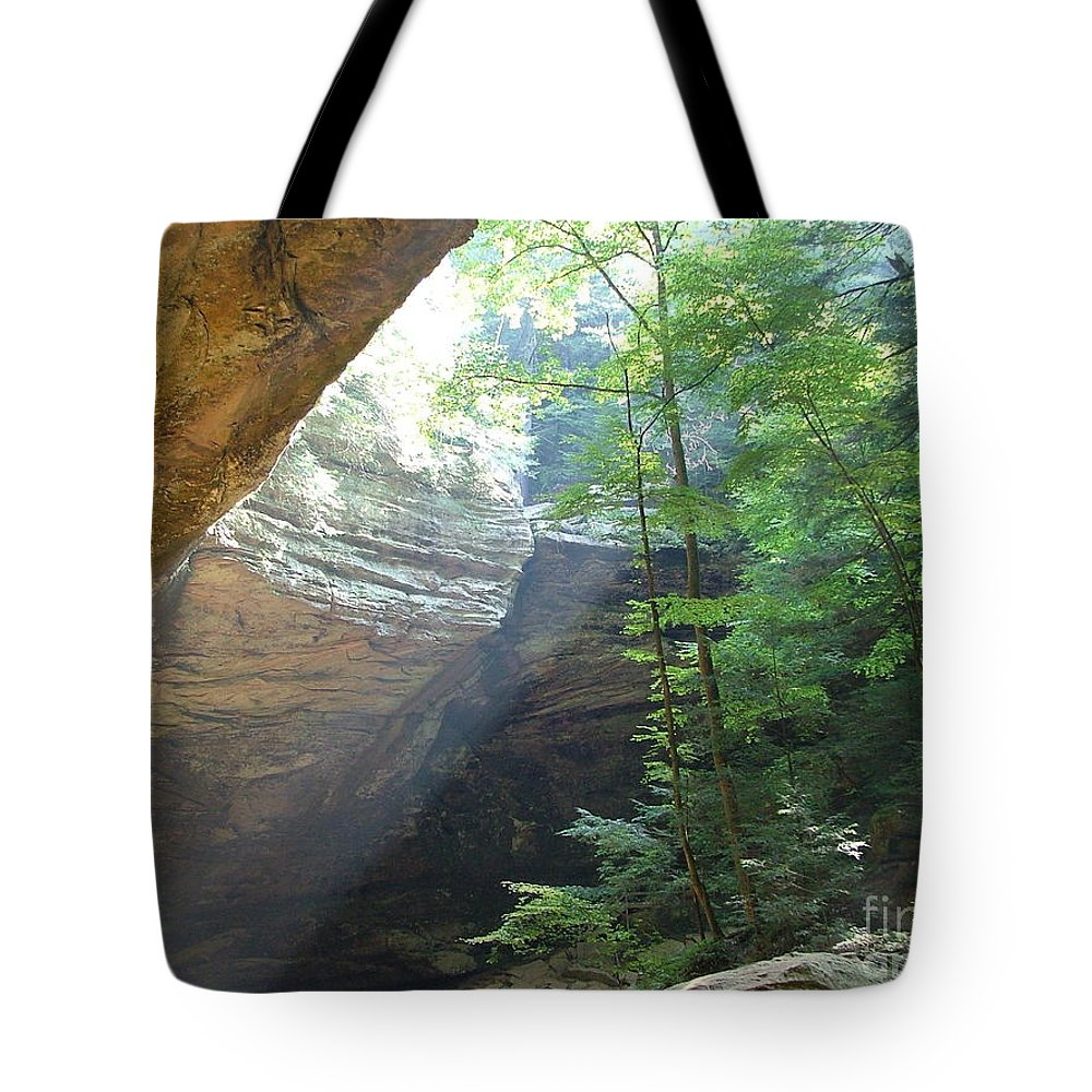 Photograph Tote Bag featuring the photograph Ash Cave by Mindy Newman