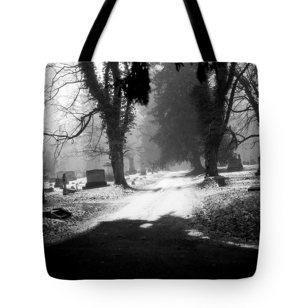 Photograph Tote Bag featuring the photograph Ashland Cemetery by Jean Macaluso