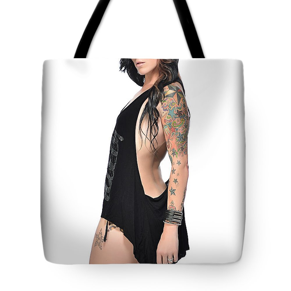 Fashion Tote Bag featuring the photograph Ashley 063 by Remegio Dalisay