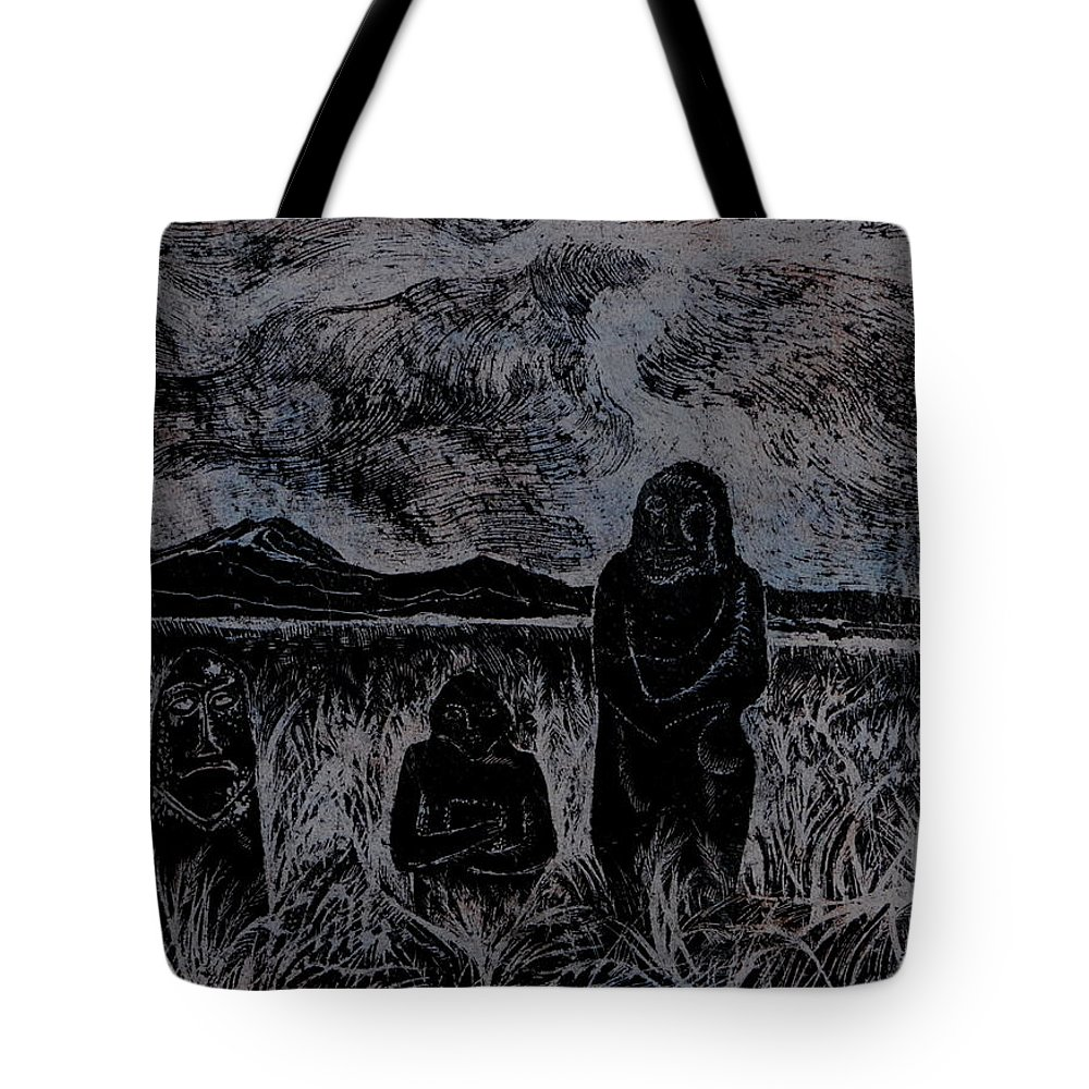 Graphica Tote Bag featuring the drawing Asia.gone With The Wind by Anna Duyunova