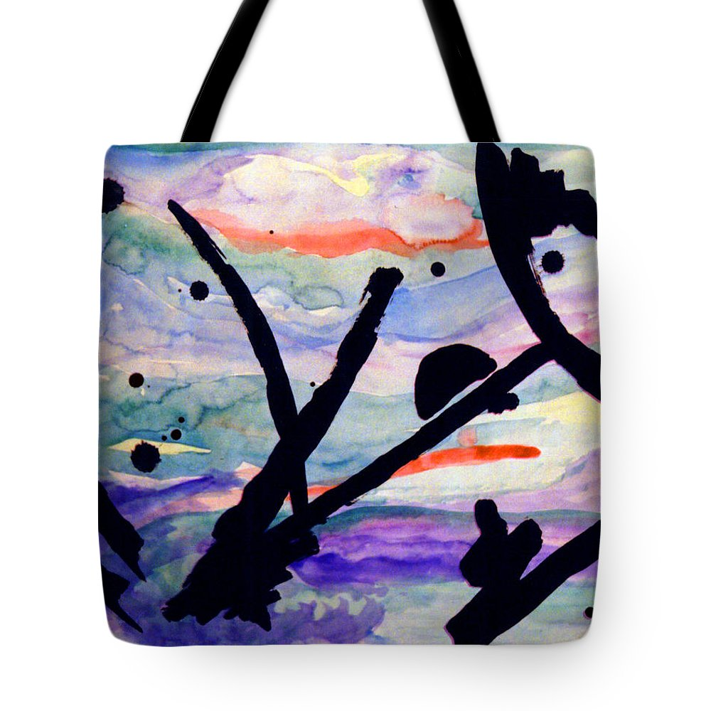 Abstract Tote Bag featuring the painting Asian Impression by Steve Karol