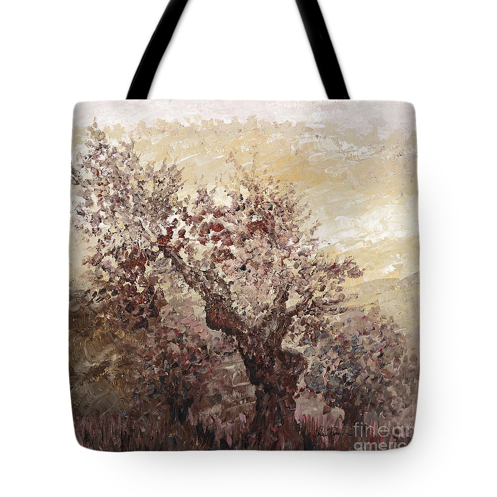 Landscape Tote Bag featuring the painting Asian Mist by Nadine Rippelmeyer