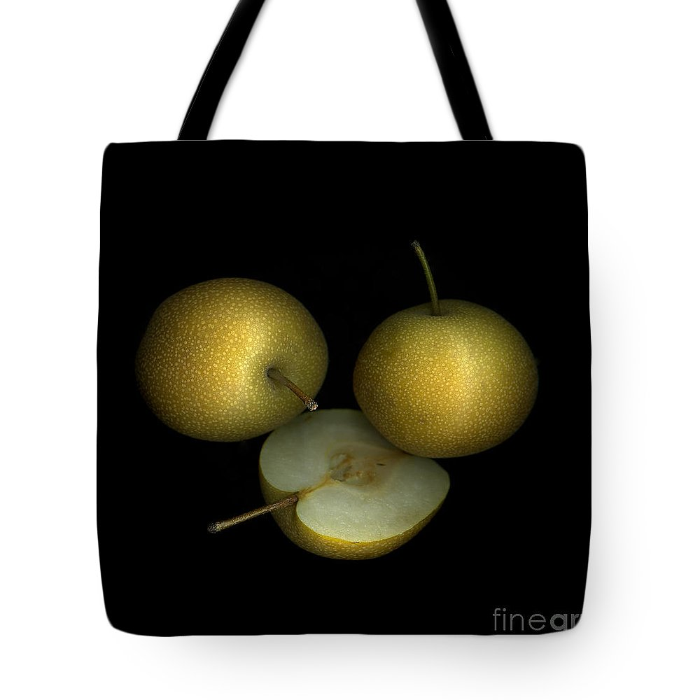 Culinary Tote Bag featuring the photograph Asian Pears by Christian Slanec
