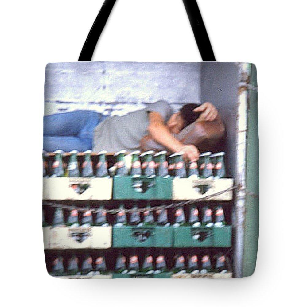 Hong Kong Tote Bag featuring the photograph Asleep On The Job by Maro Kentros