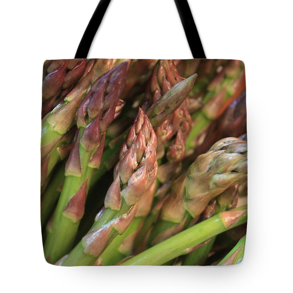 Asparagus Tote Bag featuring the photograph Asparagus Tips 2 by Carol Groenen