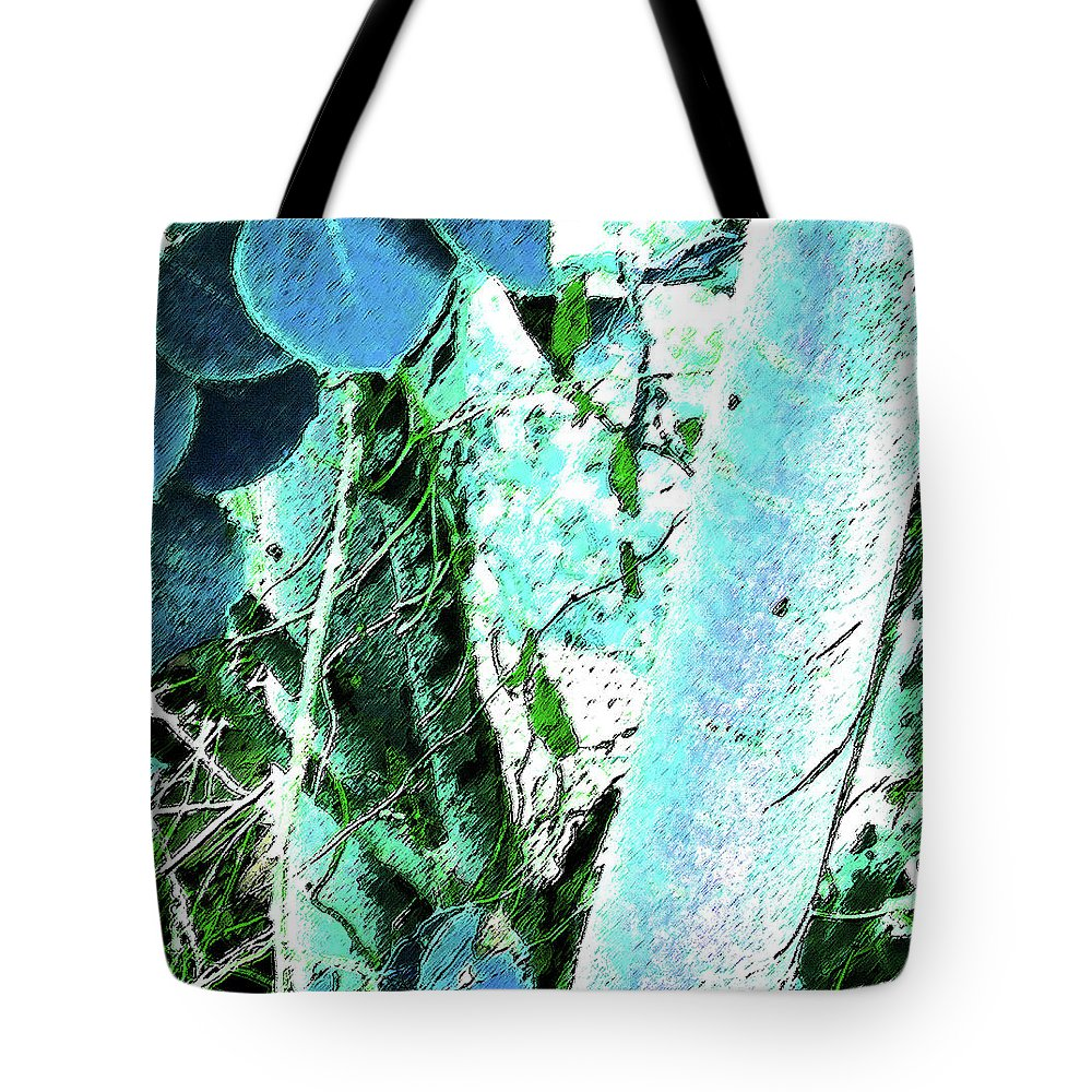 Abstract Tote Bag featuring the photograph Aspen by Lenore Senior