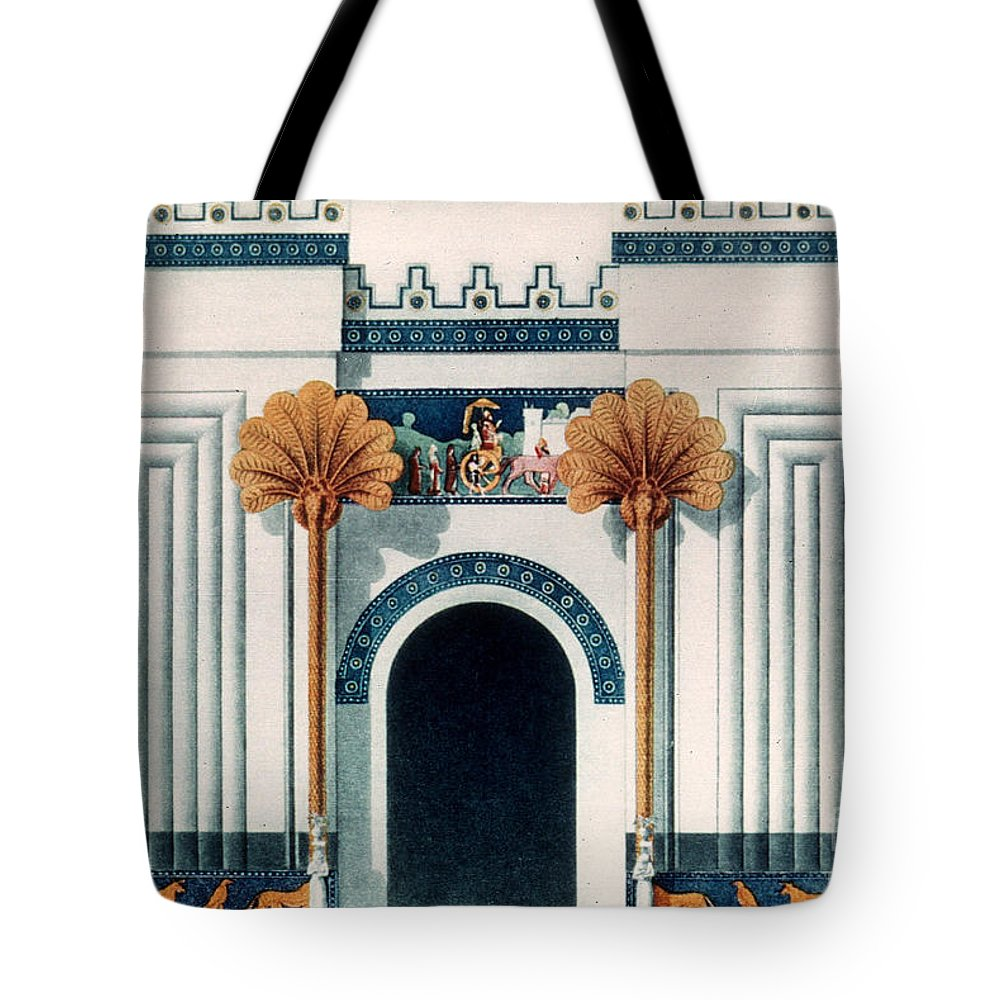 6th Century B.c. Tote Bag featuring the photograph Assyrian Temple by Granger