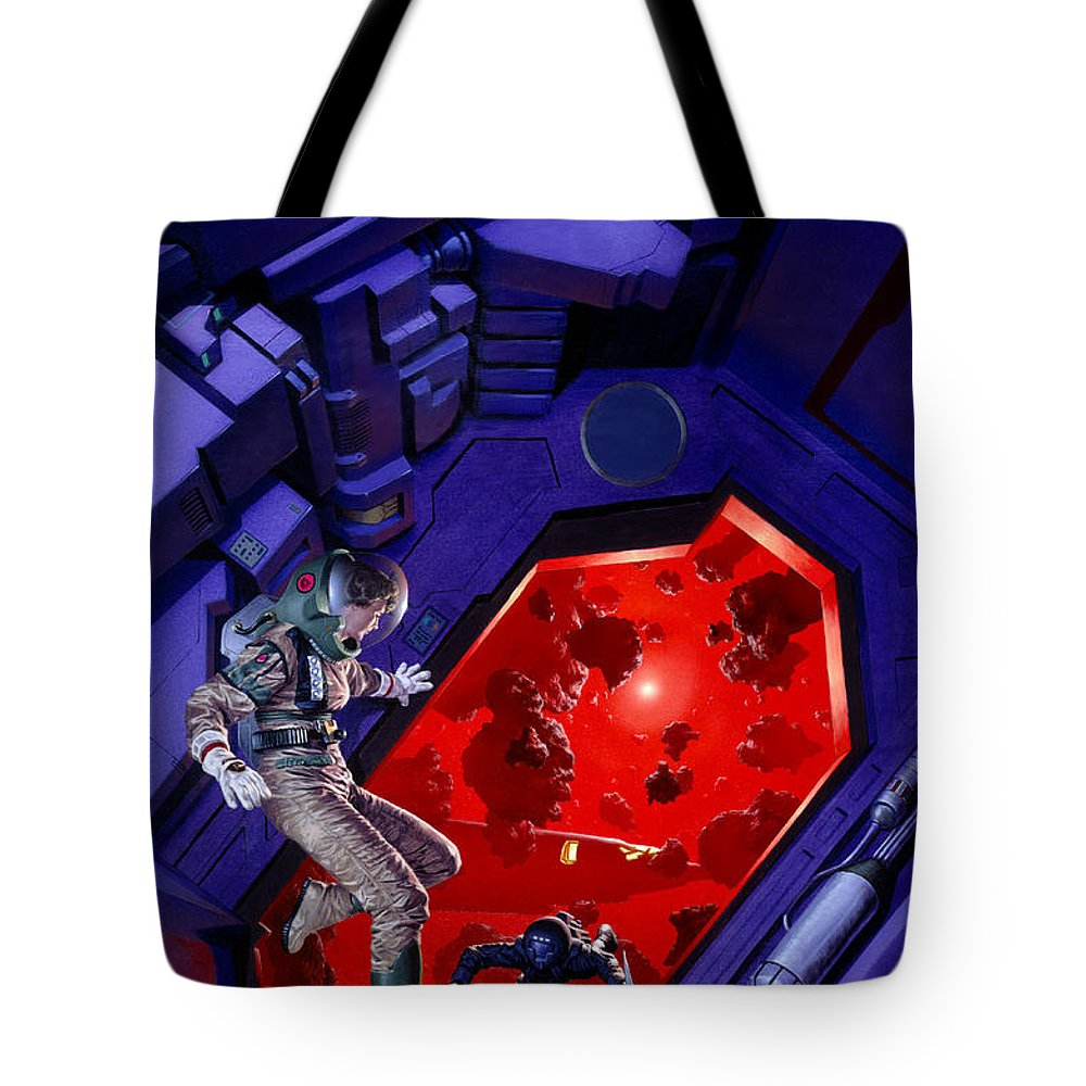 Asteroids Tote Bag featuring the painting Asteroids by Richard Hescox