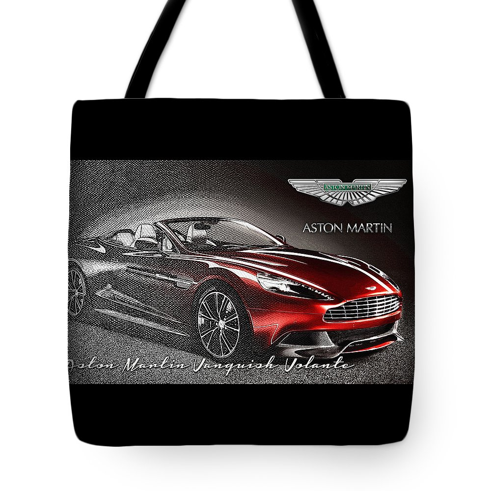 �wheels Of Fortune� Collection By Serge Averbukh Tote Bag featuring the photograph Aston Martin Vanquish Volante by Serge Averbukh