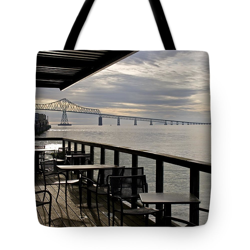 Scenic Tote Bag featuring the photograph Astoria by Lee Santa