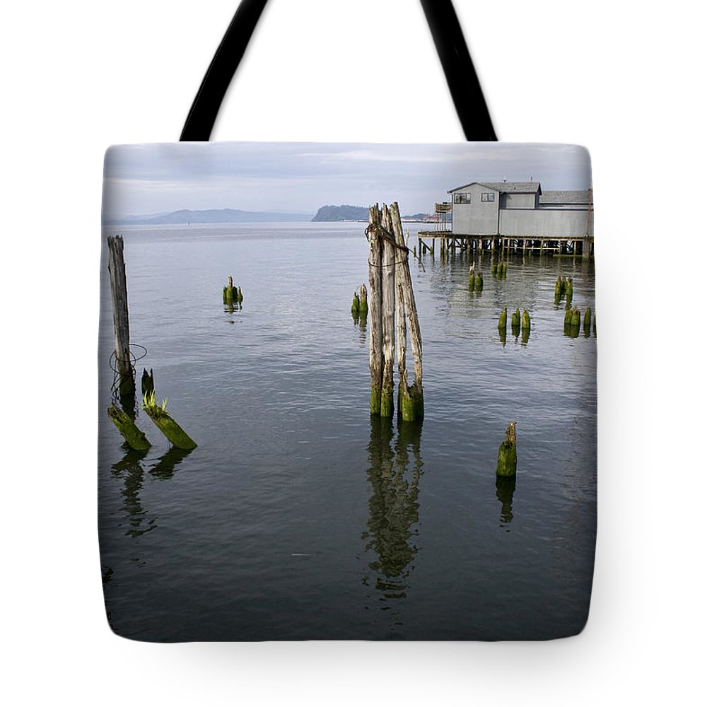 Scenic Tote Bag featuring the photograph Astoria Waterfront by Lee Santa