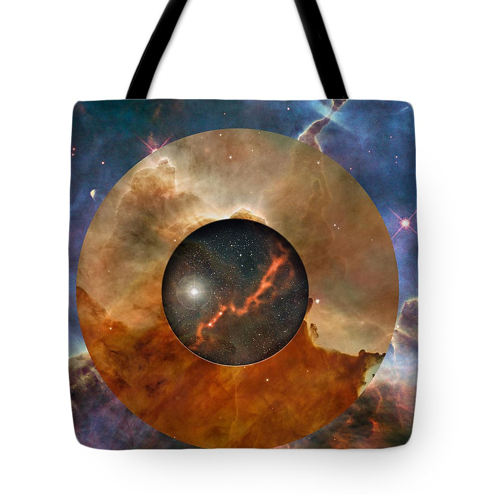 astral Abstraction Tote Bag featuring the digital art Astral Abstraction I by Kenneth Rougeau