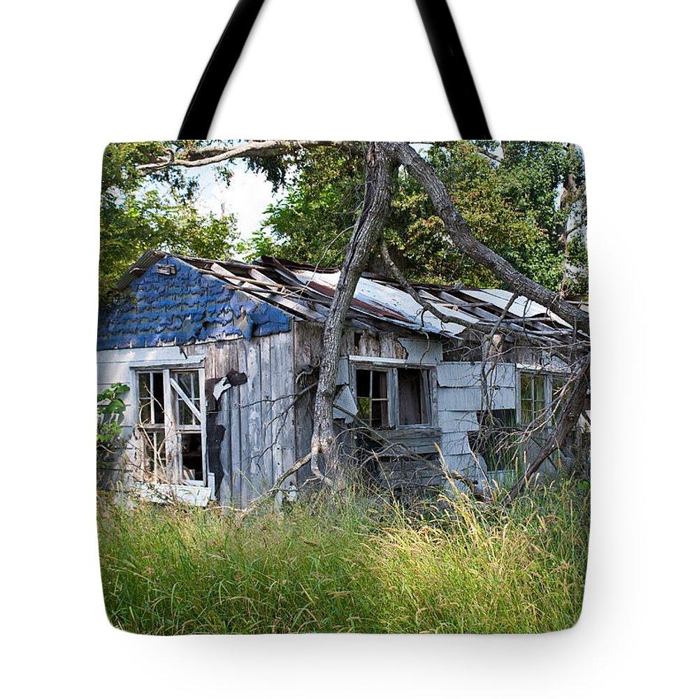 Asure Tote Bag featuring the photograph Asure Shack by Douglas Barnett