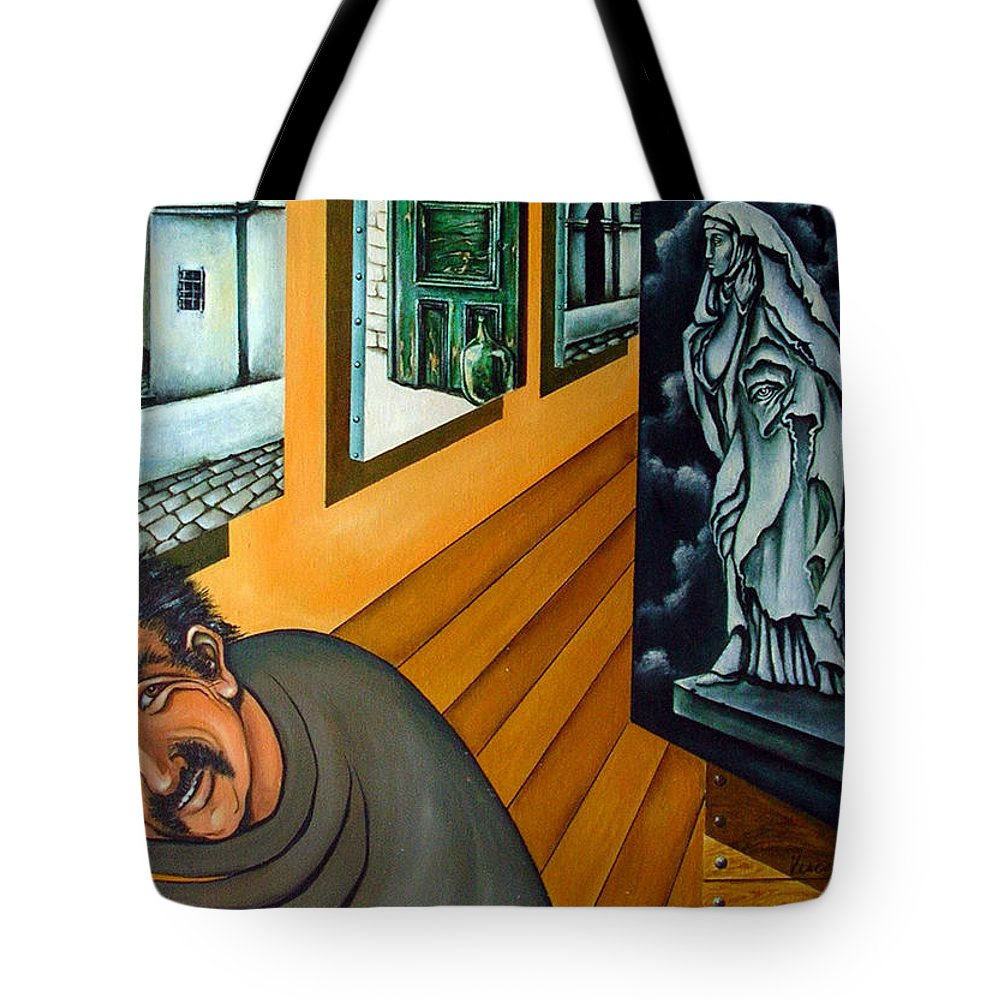 Surreal Tote Bag featuring the painting Asylum by Valerie Vescovi