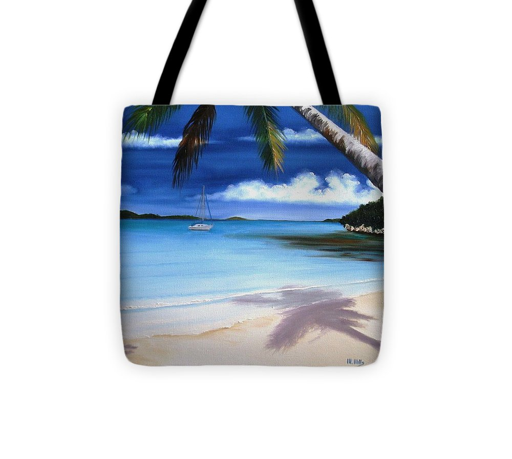 Tote Bag featuring the painting At Anchor by Maria Mills