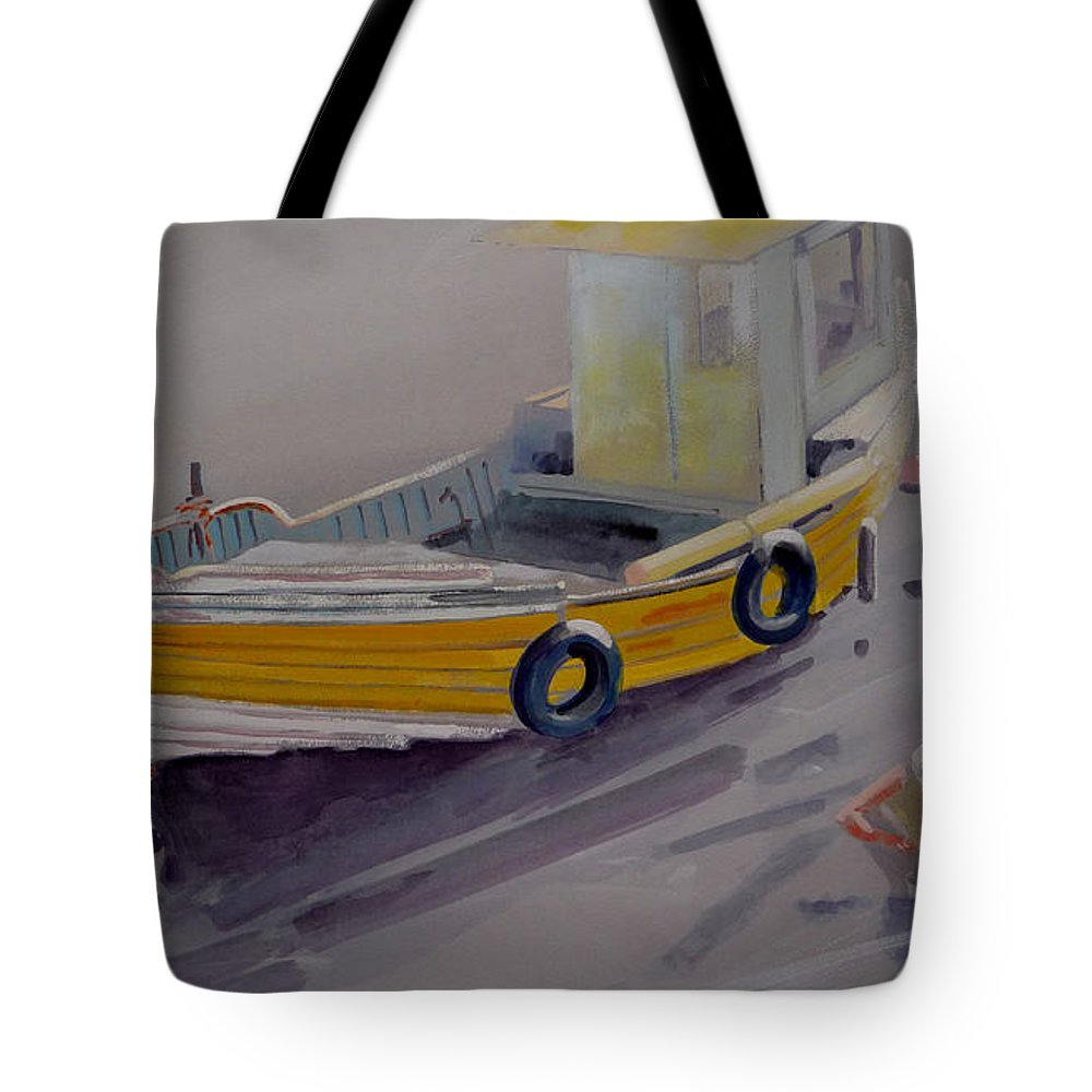 Seascape Tote Bag featuring the painting At Low Tide by Charles Stuart