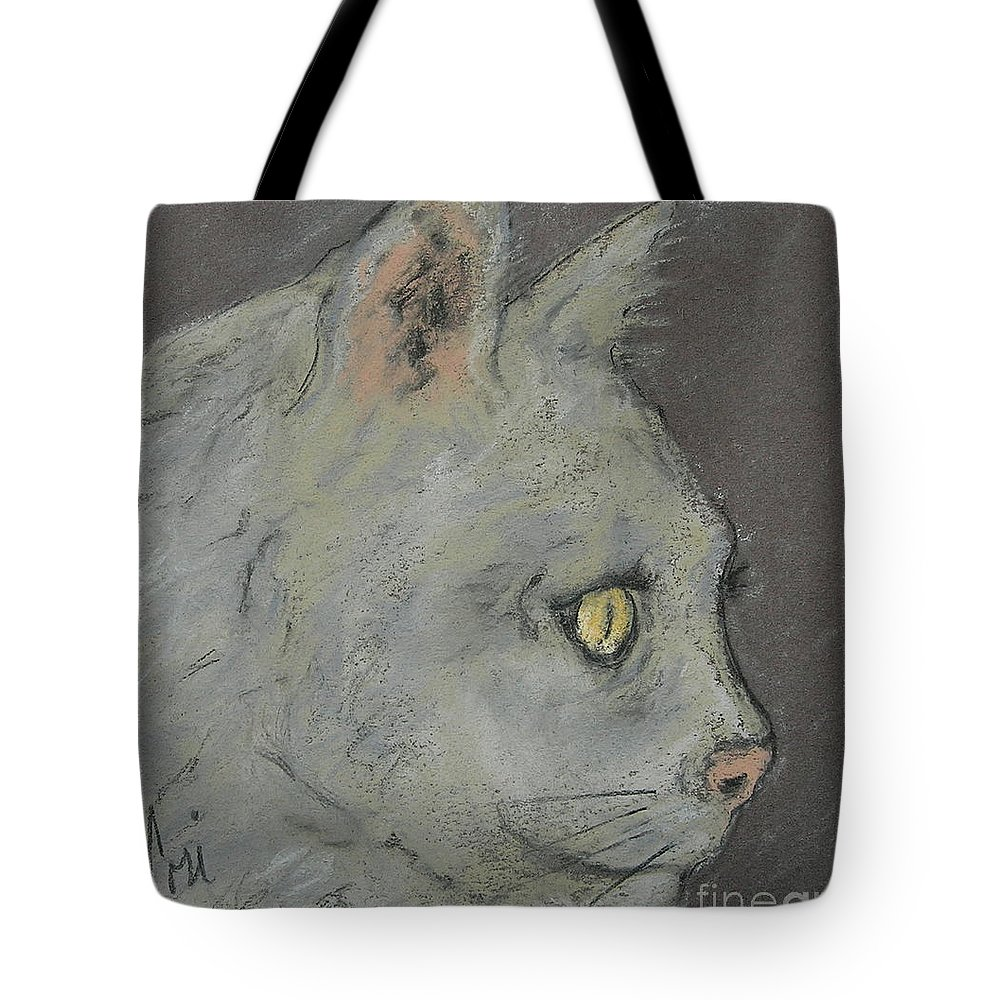 Pastels Tote Bag featuring the drawing At Peace by Cori Solomon