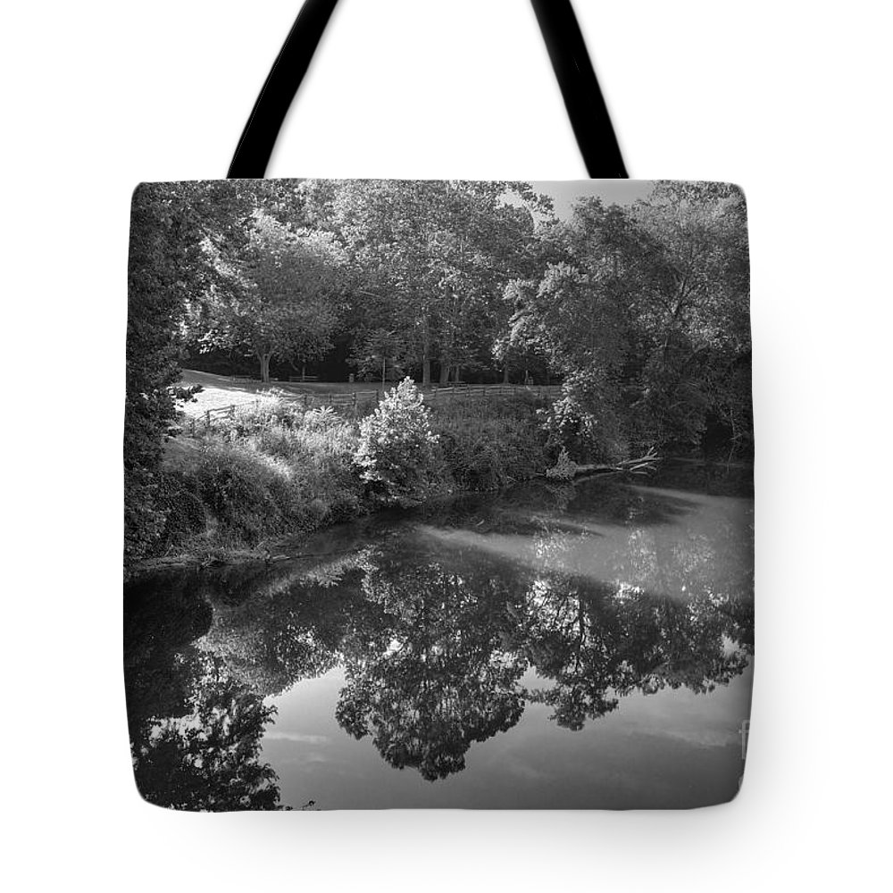 James River Tote Bag featuring the photograph At Peace by Todd Hostetter
