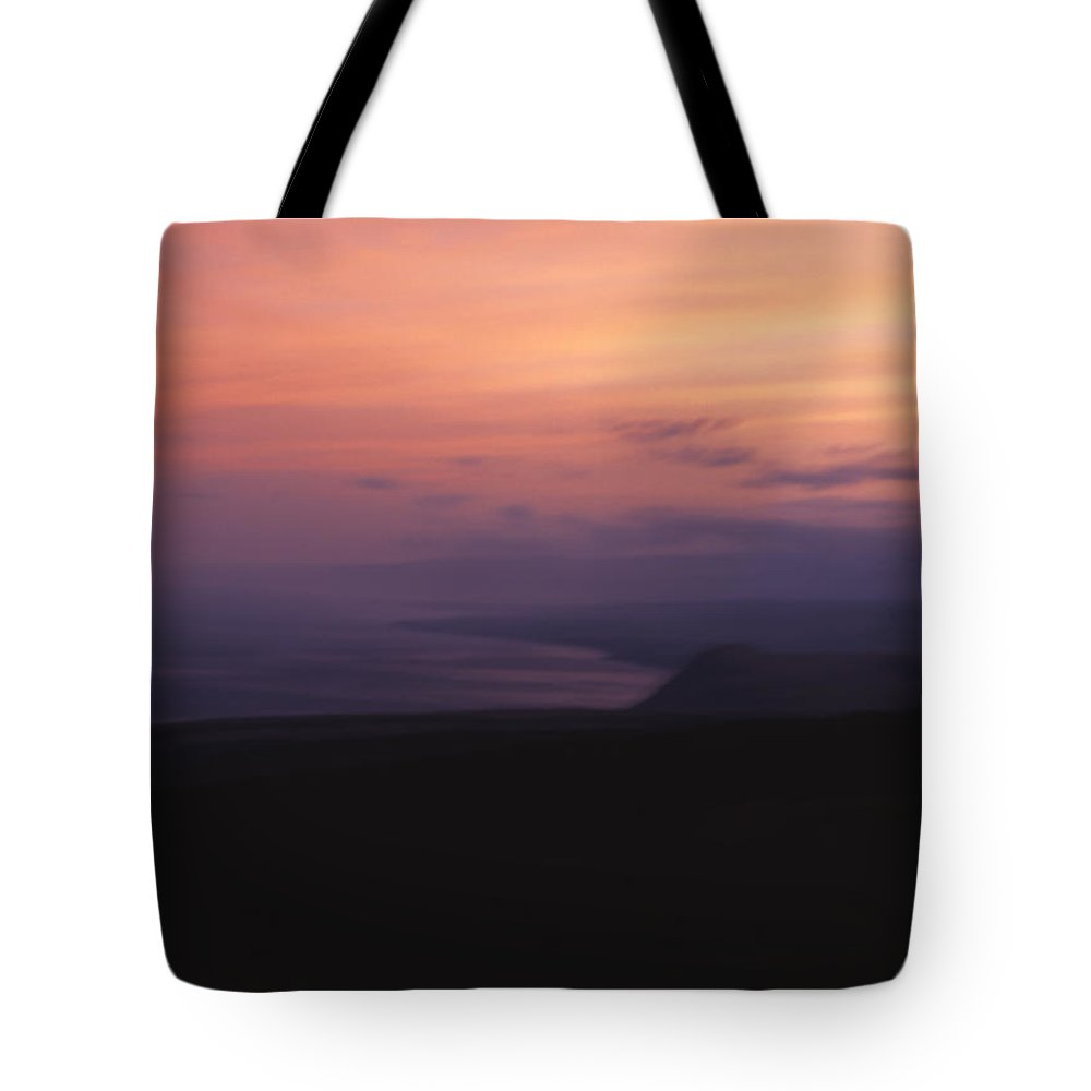 Sunset Tote Bag featuring the photograph At Sundown by Ayesha Lakes