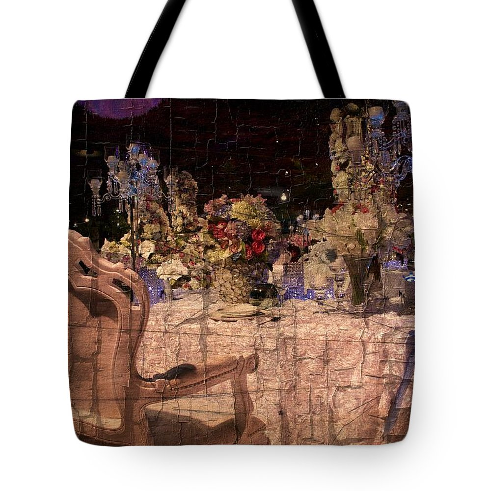 Table Tote Bag featuring the photograph At The Table by Alice Gipson