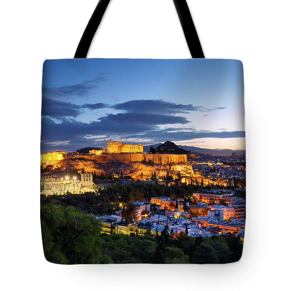 Europe Tote Bag featuring the photograph athens 'CXIV by Milan Gonda