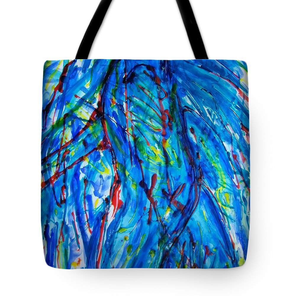 Abstract Tote Bag featuring the painting Athlete by Judith Redman