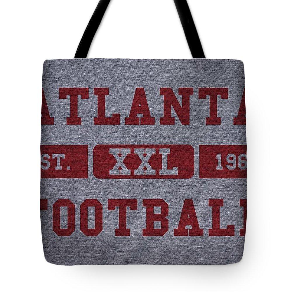 Falcons Tote Bag featuring the photograph Atlanta Falcons Retro Shirt by Joe Hamilton