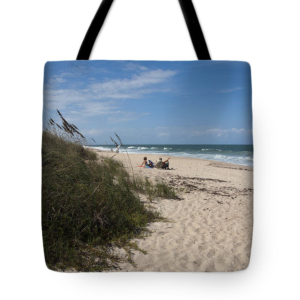 Beach Tote Bag featuring the photograph Atlantic Ocean On The East Central Coast Of Florida by Allan Hughes