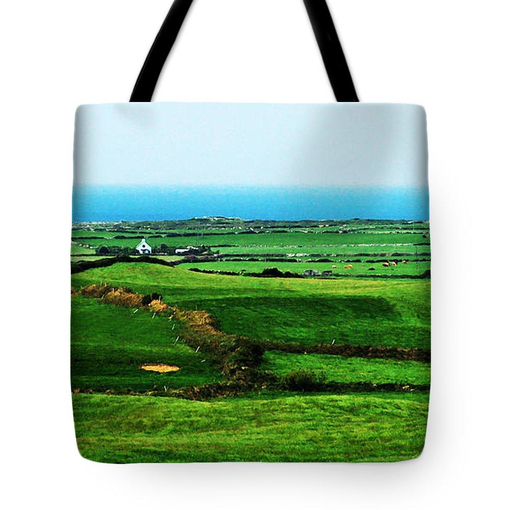 Ireland Tote Bag featuring the photograph Atlantic View Doolin Ireland by Teresa Mucha