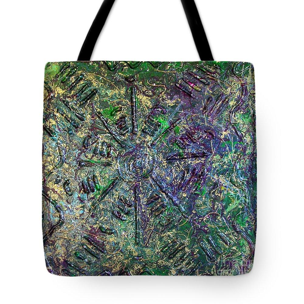 Atlantis Tote Bag featuring the painting Atlantis by Dawn Hough Sebaugh